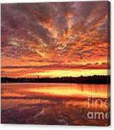 Red Burning Sky Canvas Print
