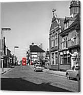 Red Bus And Red Telephone Box - 1960's    Ref-124-2 Canvas Print