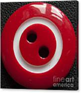 Red Button Close Up Canvas Print