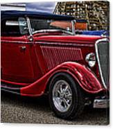 Red Cabrolet Canvas Print