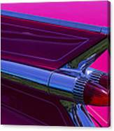 Red Caddy Tail Lights Canvas Print