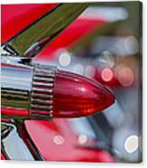 Red Cadillac Fins Canvas Print