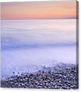 Red Calm At The Beach Canvas Print