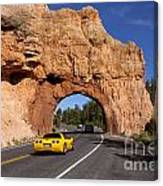 Red Canyon Near Bryce Canyon In Utah Canvas Print