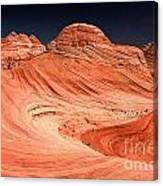 Red Canyon Swirls Canvas Print