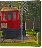 Red Car Museum In Seal Beach Ca Canvas Print