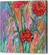 Red Carnation Melody Canvas Print
