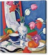 Red Chair And Tulips, C.1919 Canvas Print