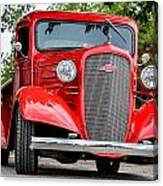 Red Chevy In Awesome Canvas Print