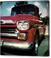 Red Chevy Pickup Canvas Print