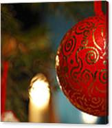 Red Christmas Bauble - Available For Licensing Canvas Print
