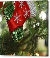 Red Christmas Stocking - Available For Licensing Canvas Print