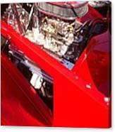 Red Classic Car Engine 2 Canvas Print