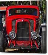 Red Classic Hotrod Canvas Print