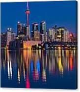 Red Cn Tower Canvas Print