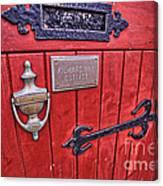 Red Cottage Door Canvas Print