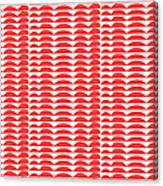 Red Cut Outs- Abstract Pattern Art Canvas Print