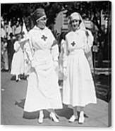 Red Cross Parade, 1918 Canvas Print