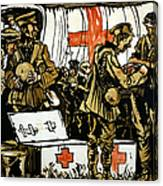 Red Cross Poster, 1915 Canvas Print
