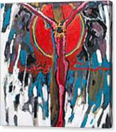 Red Crucifixion Canvas Print