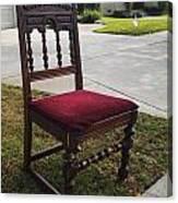 Red Cushion Chair Canvas Print