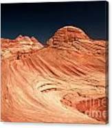 Red Desert Swirls Canvas Print
