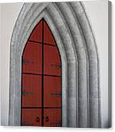 Red Door At Our Lady Of The Atonement Canvas Print