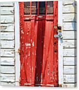 Red Door By Diana Sainz Canvas Print