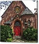 Red Door Church Canvas Print