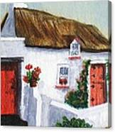 Red Door Cottage Like Maggies Canvas Print