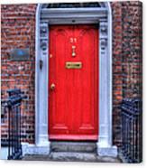 Red Door Dublin Ireland Canvas Print