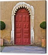 Red Door Of Caldas De Rainha Canvas Print