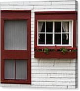 Red Door Red Window Canvas Print