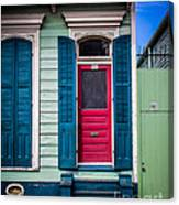 Red Doored House Canvas Print