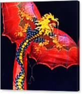 Red Dragon Kite Canvas Print