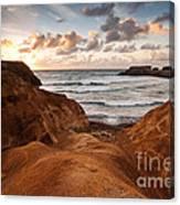 Red Dunes Sunrise Canvas Print