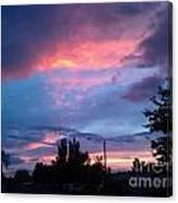 Red Evening Arizona Sky Canvas Print