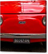 Red Fiat Canvas Print