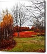 Red Field Autumn Canvas Print
