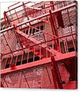 Red Fire Escape Canvas Print