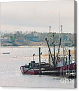Red Fishing Boat Canvas Print