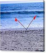 Red Flags Canvas Print