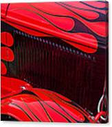 Red Flames Hot Rod Canvas Print