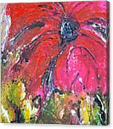 Red Flower - Abstract Painting Canvas Print