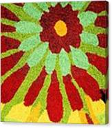 Red Flower Rug Canvas Print