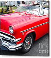 Red Ford Convertible Canvas Print
