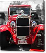 Red Ford Ute Canvas Print