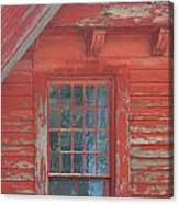Red Gable Window Canvas Print