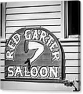 Red Garter Key West - Square - Black And White Canvas Print