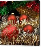 Red Gold Green Christmas Canvas Print
